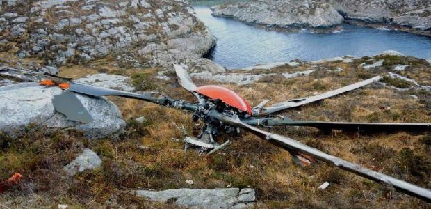 This photo from the AIBN report shows the helicopter