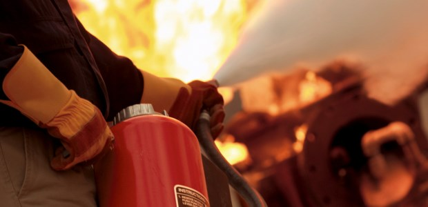 To fight any fire effectively, the person operating the extinguisher must be able to move around easily and safely while holding the extinguisher. (Johnson Controls photo)