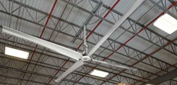 HVLS fans are gaining recognition as an efficient way of improving air movement, reducing heat stress, lowering energy costs, and creating a better overall environment. (Rite-Hite photo)