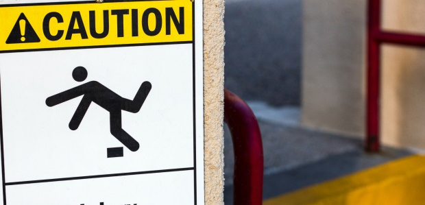 Most do not realize that slips and falls from the same surface are great risks.