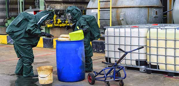 Discussing Basic Spill Response Techniques During HazCom Training
