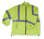 Condor® high visibility lime green fleece jackets