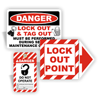 OSHA Compliant Lockout Signs and Labels