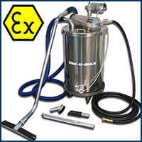 Full Range of Combustible Dust Vacs – ATEX Certified, Air Driven