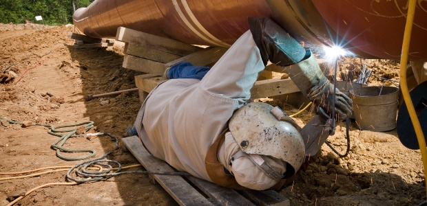Welders need head-to-toe protection on the job, from welding helmets and protective apparel, as well as steel-toed boots.
