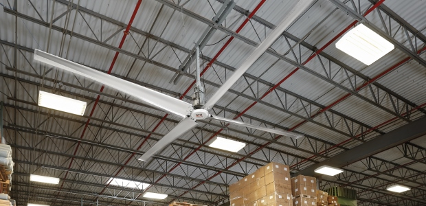 Capitalizing on the advantages of HVLS fans requires careful analysis of each application, as well as each HVLS fan design. (Rite-Hite Fans photo)