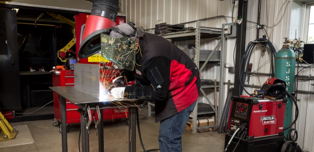 The purpose of any fume control system is to help control worker exposure to welding fume. If not maintained properly, the system may not adequately control that exposure. (Lincoln Electric photo)