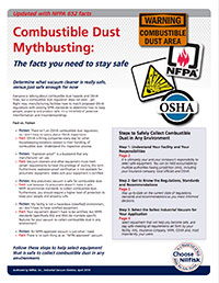 Combustible Dust Mythbusting: Facts to Ensure Safety and Compliance
