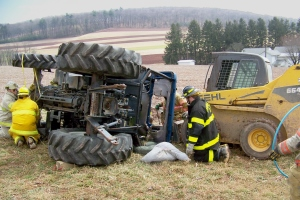 Tractor rollovers are the leading cause of occupational fatalities for farmers, according to NIOSH. (MU News Bureau photo)