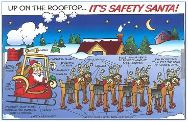 PPE and more will help Santa and his team make their 2013 around-the-world trip a safe one.