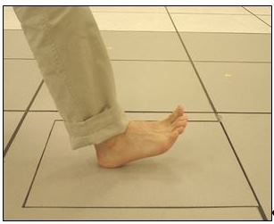 Figure 2. Interface between a human foot and a force plate